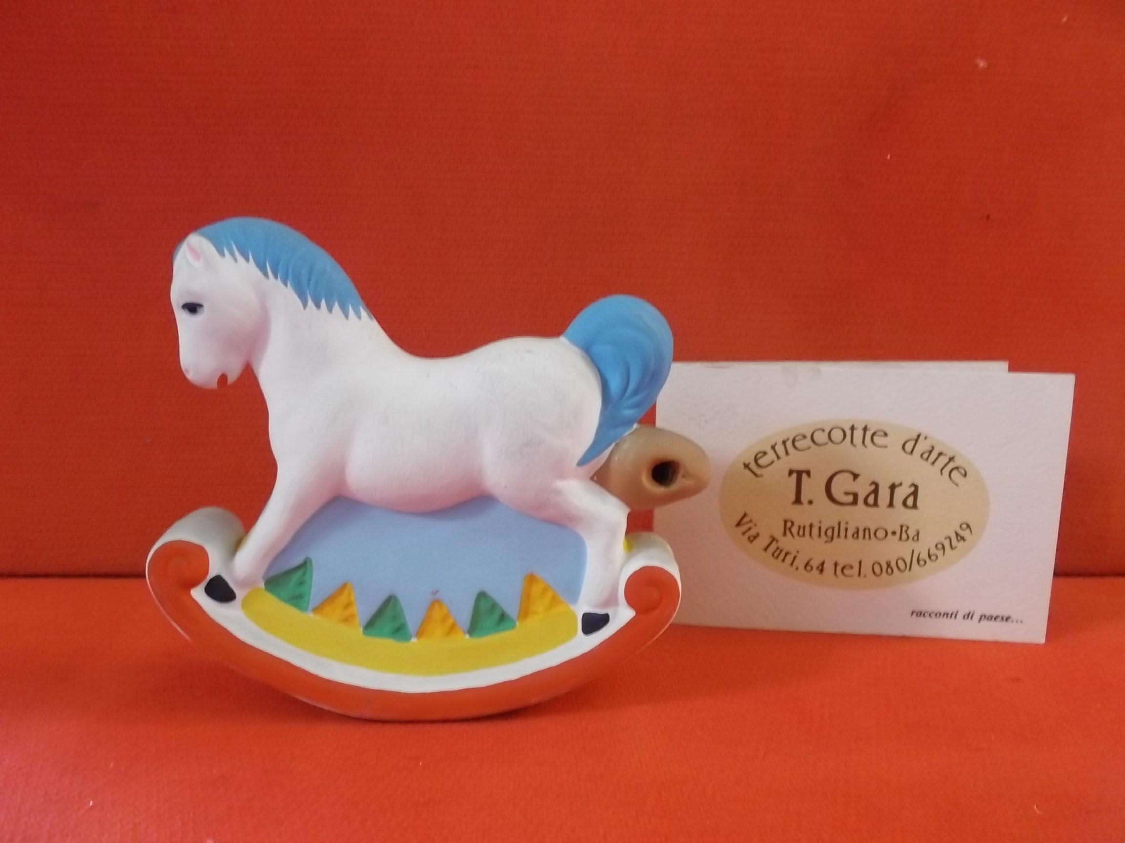 Cavallo A Dondolo Artigianale.Fischietto In Terracotta Artigianale Cavallo A Dondolo