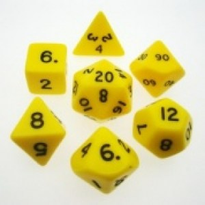 CHESSEX Yellow 7-Die Set