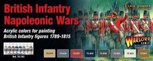 Napoleonic British Infantry Paint Set